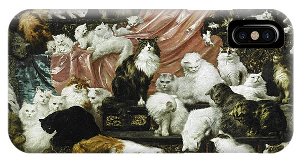 Peach iPhone Case - My Wife's Lovers by Carl Kahler
