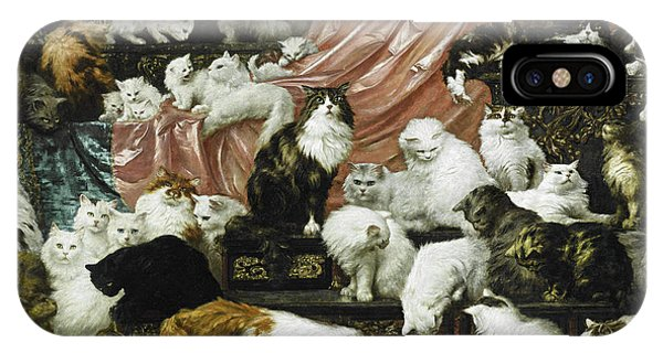 Famous Artist iPhone Case - My Wife's Lovers by Carl Kahler