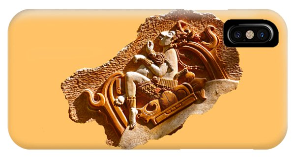 IPhone Case featuring the digital art Myan Wall Art D by Francesca Mackenney