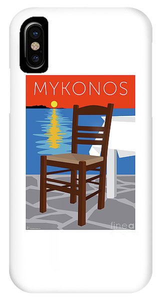 Mykonos Empty Chair - Orange IPhone Case