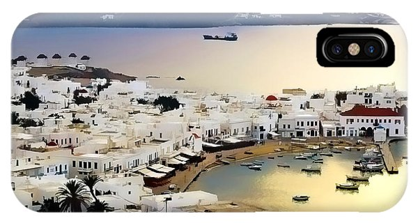 Mykonos Greece IPhone Case