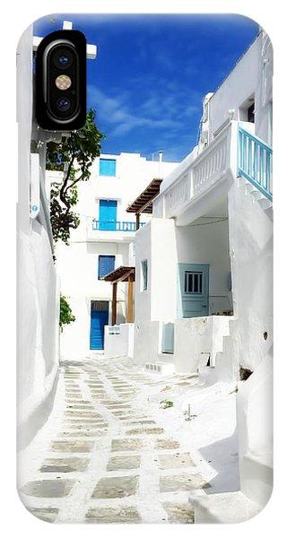 Greece iPhone X Case - Mykonos by HD Connelly