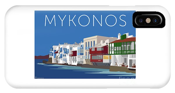 Mykonos Little Venice - Blue IPhone Case