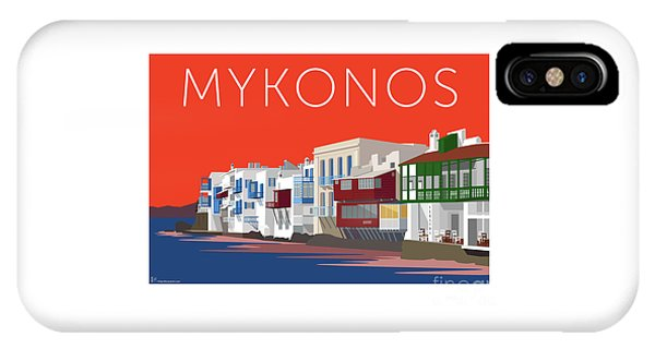 Mykonos Little Venice - Orange IPhone Case