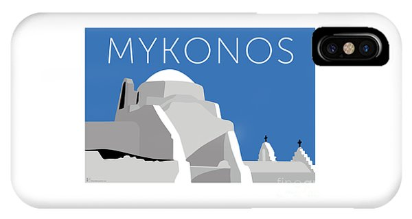 Mykonos Paraportiani - Blue IPhone Case