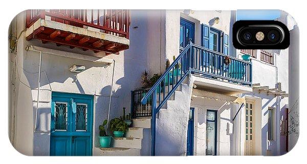 Mykonos Stairs And Balconies Phone Case by Ken Andersen