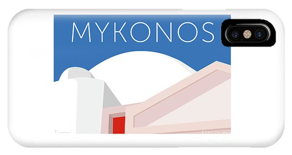 Mykonos Walls - Blue IPhone Case