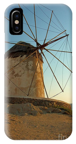 Mykonos Windmill  IPhone Case