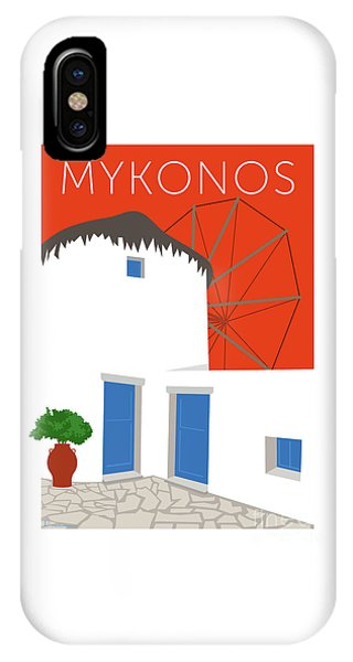 Mykonos Windmill - Orange IPhone Case