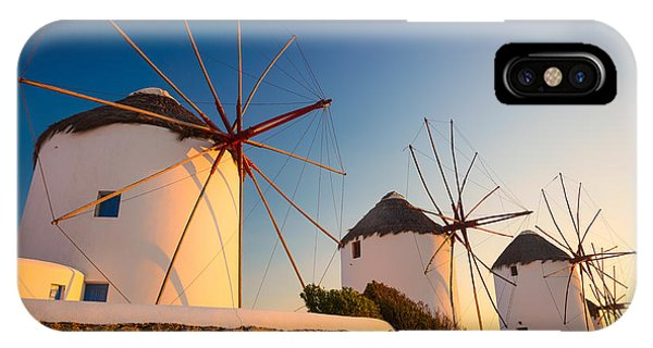 Greece iPhone X Case - Mykonos Windmills by Inge Johnsson