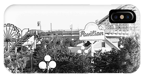 Myrtle Beach Pavillion Amusement Park Monotone IPhone Case