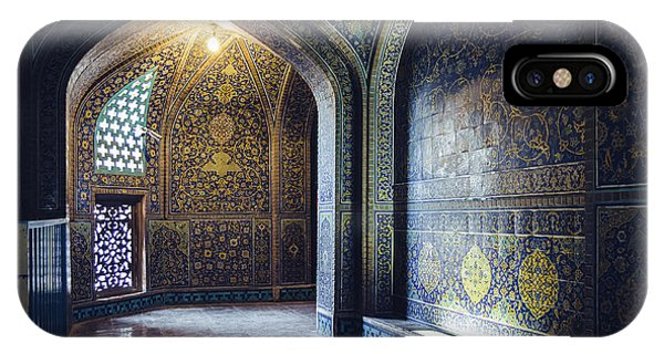 Mysterious Corridor In Persian Mosque IPhone Case