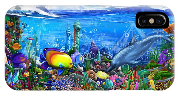 Reef iPhone Case - Mysterious Ocean City by MGL Meiklejohn Graphics Licensing