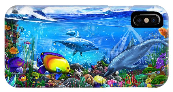 Reef iPhone Case - Mysterious Ocean Realm by MGL Meiklejohn Graphics Licensing