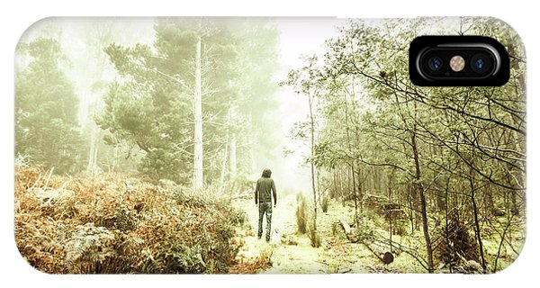 Morning Mist iPhone Case - Mysterious Trail by Jorgo Photography - Wall Art Gallery