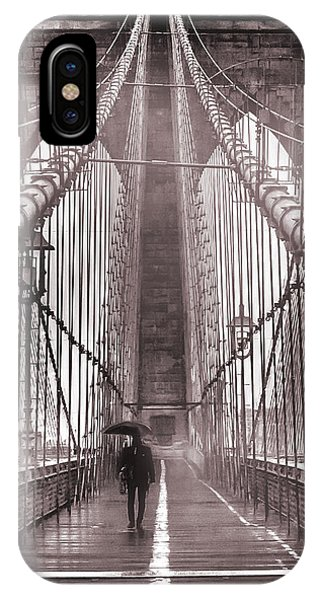 Architectural iPhone Case - Mystery Man Of Brooklyn by Az Jackson