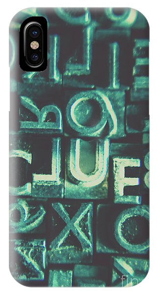 Vintage iPhone Case - Mystery Writer Clue by Jorgo Photography - Wall Art Gallery