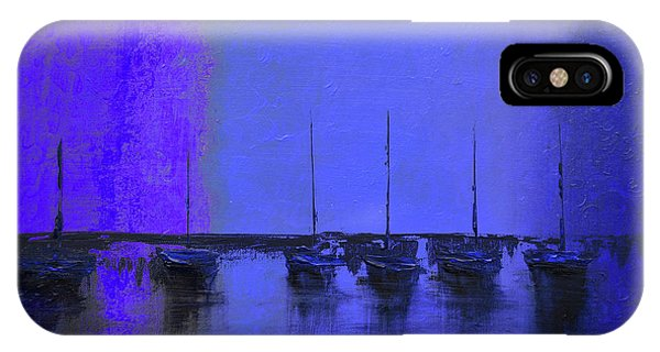 Mystic Bay Purple And Blue IPhone Case