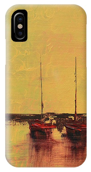 Mystic Bay Triptych 2 Of 3 IPhone Case