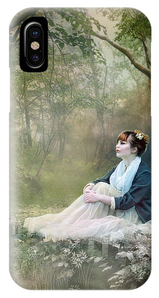 Sitting iPhone Case - Mystic Contemplation by Karen Koski