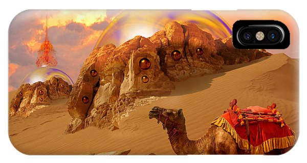 IPhone Case featuring the digital art Mystic Desert by Alexa Szlavics