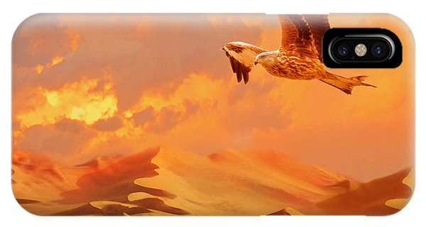 IPhone Case featuring the digital art Mystic Desert Another Planet by Alexa Szlavics