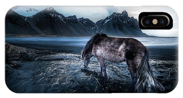 Reindeer iPhone Case - Mystic Icelandic Horse by Larry Marshall