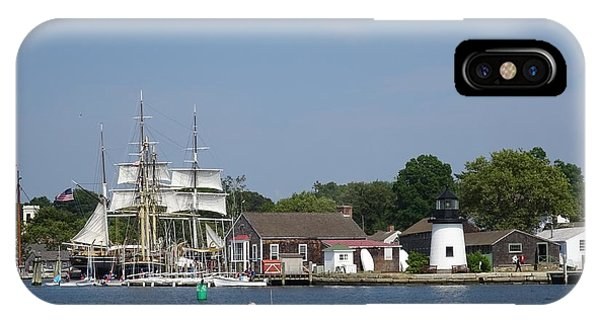 iPhone Case - Mystic Seaport Lighthouse by Red Cross