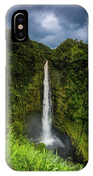 IPhone Case featuring the photograph Mystic Waterfall by Break The Silhouette