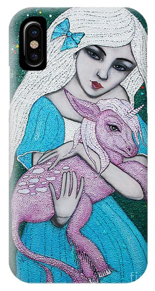 IPhone Case featuring the mixed media Mystical Beginnings by Natalie Briney