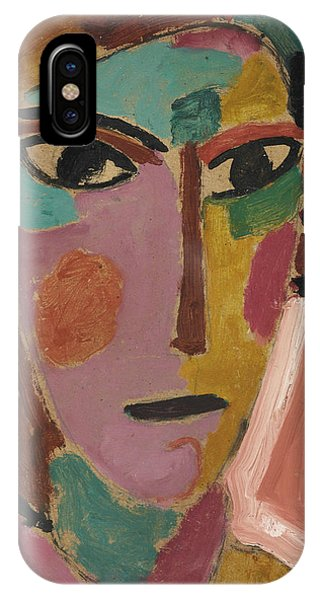 Mystical Women's Head On Red Ground IPhone Case