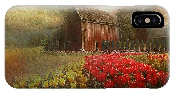 Mythical Tulip Farm IPhone Case