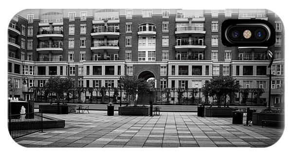 N. Church Condos In Black And White IPhone Case