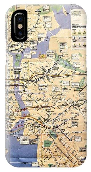 iPhone Case - N Y C Subway Map by Rob Hans