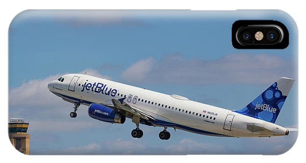 N625jb Jetblue At Fll IPhone Case