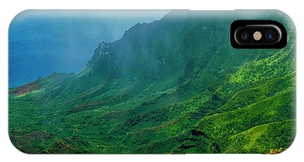 na Pali coast Kailua lookout kauai Hawaii IPhone Case