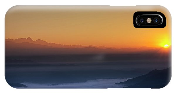 Nagarkot Sunrise IPhone Case