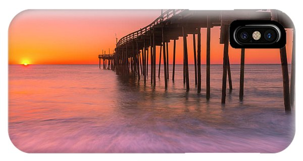 Nags Head Avon Fishing Pier At Sunrise IPhone Case