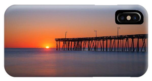 Nags Head Fishing Pier Sunrise IPhone Case
