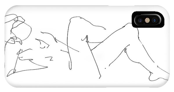 Naked-male-drawing-14 IPhone Case