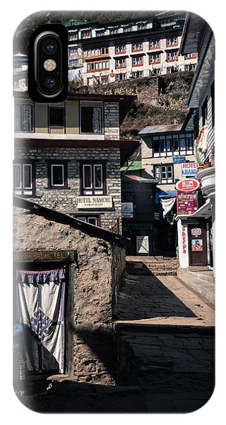 IPhone Case featuring the photograph Namche Bazaar Hotelier by Owen Weber