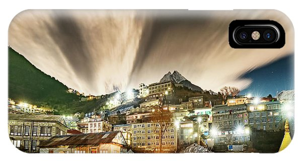 IPhone Case featuring the photograph Namche Night by Dan McGeorge