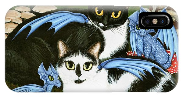 Nami And Rookia's Dragons - Tuxedo Cats IPhone Case