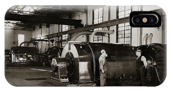 Nanticoke Pa Electrical Generators Glen Alden Mines Power Plant 1945 IPhone Case