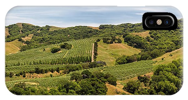 IPhone Case featuring the photograph Napa Valley California Panoramic by Adam Romanowicz