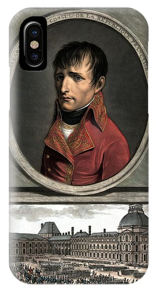 Leader iPhone Case - Napoleon Bonaparte And Troop Review by War Is Hell Store