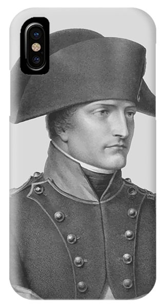 French iPhone Case - Napoleon Bonaparte In Uniform  by War Is Hell Store