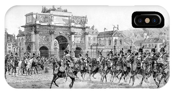 Leader iPhone Case - Napoleon Reviewing His Troops by War Is Hell Store