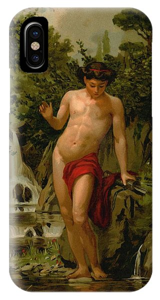 Narcissus In Love With His Own Reflection IPhone Case