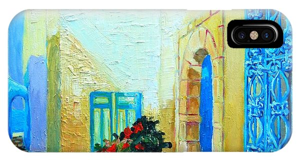 Narrow Street In Hammamet IPhone Case